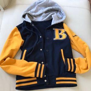 Vintage style varsity jacket hoodie sweatshirt s